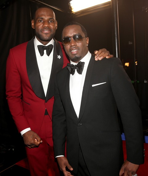 LeBron James and Sean Combs