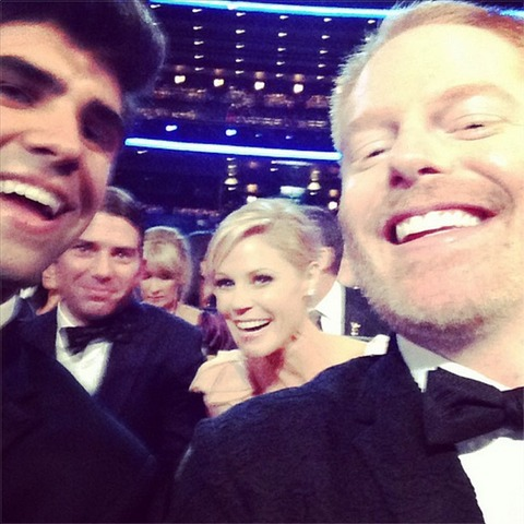 Justin Mikita, Jesse Tyler Ferguson, Julie Bowen and husband Scott Phillips