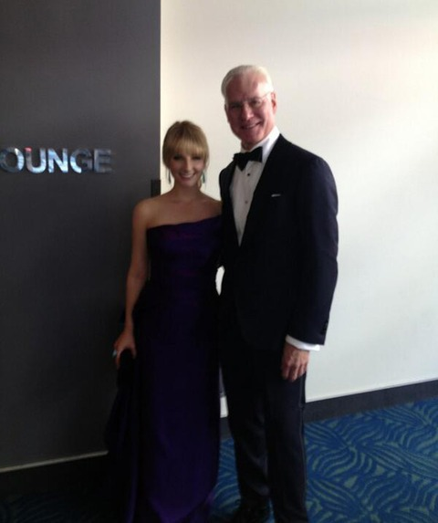 Melissa Rauch and Tim Gunn