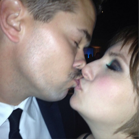 Andrew Rannells and Lena Dunham