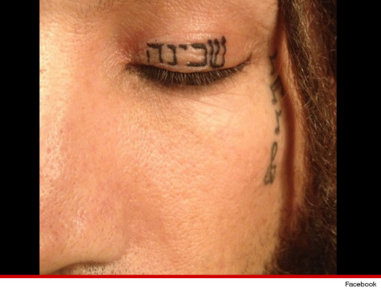 Korn Guitarist Hebrew Eyelid Tattoo On My Christian Face