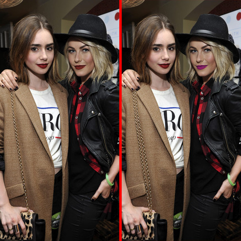 Can you spot the THREE differences in the Lily Collins and Julianne Hough picture?