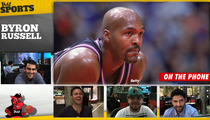 Michael Jordan -- CHICKENED OUT ... After Bryon Russell Challenged MJ to 1-on-1