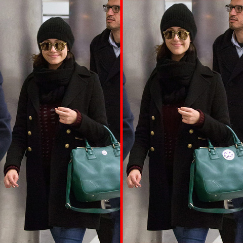 Can you spot the THREE differences in the Emmy Rossum picture?