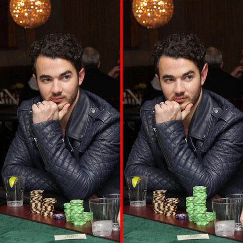 Can you spot the THREE differences in the Kevin Jonas picture?