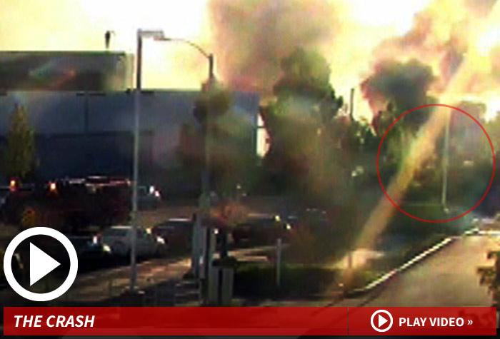 paul walker crash -- the moment of impact & massive inferno [video