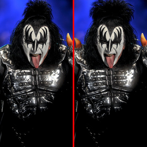 Can you spot the THREE differences in the KISS picture?