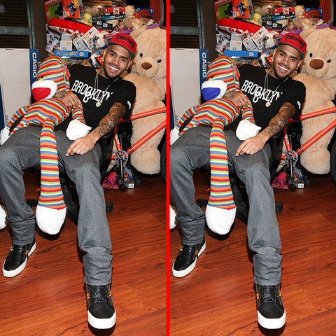 Can you spot the THREE differences in the Chris Brown picture?