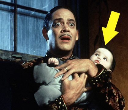 "Twin sisters Kaitlyn and Kristen Hooper were infants when they shared the role of Pubert -- the adorable moustached baby -- in the 1993 comedy ""Addams Family Values."""