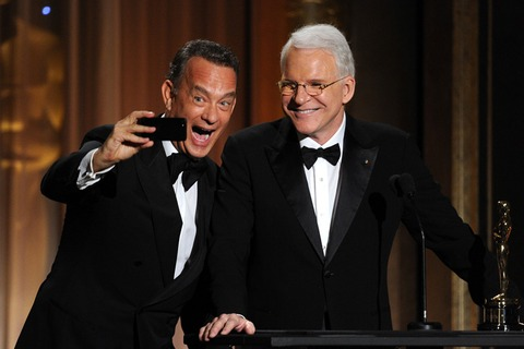 Show stoppers Tom Hanks and Steve Martin snapped a good one!
