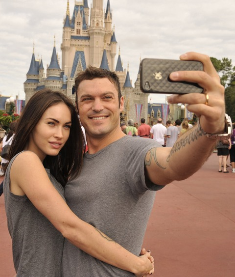 Megan Fox and her husband Brian Austin Green took this snapshot at the happiest place on earth!