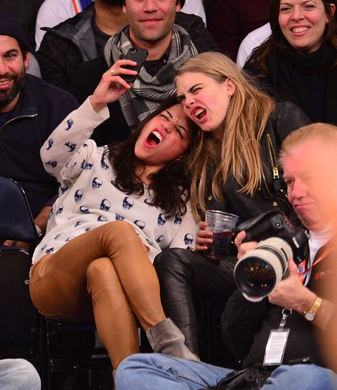 Michelle Rodriguez and Cara Delevingne got a little crazy for their selfie!