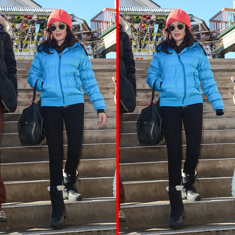 Can you spot the THREE differences in the Rose McGowan picture?