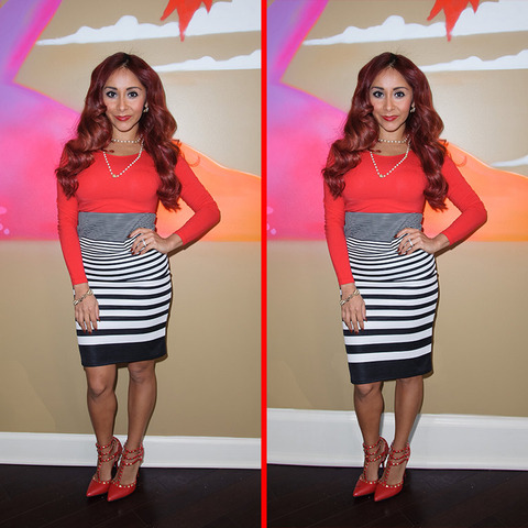 """Can you spot the THREE differences in the Nicole """"Snooki"""" Polizzi picture?"""
