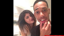 Kylie Jenner -- Mackin' On Lil Za in Justin Bieber's Weed Kitchen