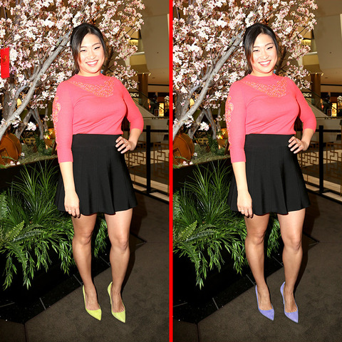 Can you spot the THREE differences in the Jenna Ushkowitz picture?
