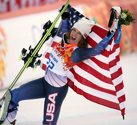 Bronze medalist Julia Mancuso -- Women's Super Combined Skiing