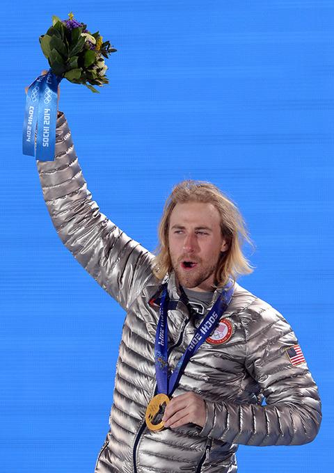 Gold medalist Sage Kotsenburg --  Snowboard Men's Slopestyle