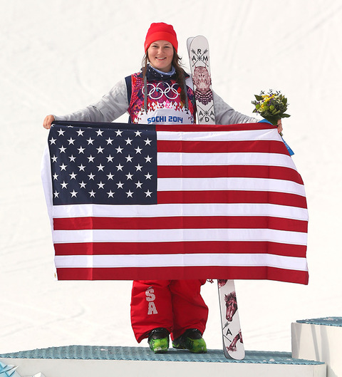 Silver medalist Devin Logan --  Freestyle Skiing Women's Slopestyle