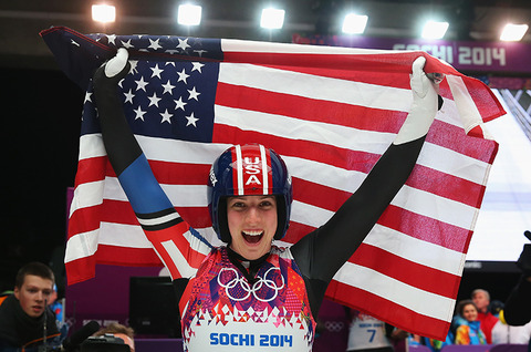 Bronze medalist Erin Hamlin -- Women's Singles Luge