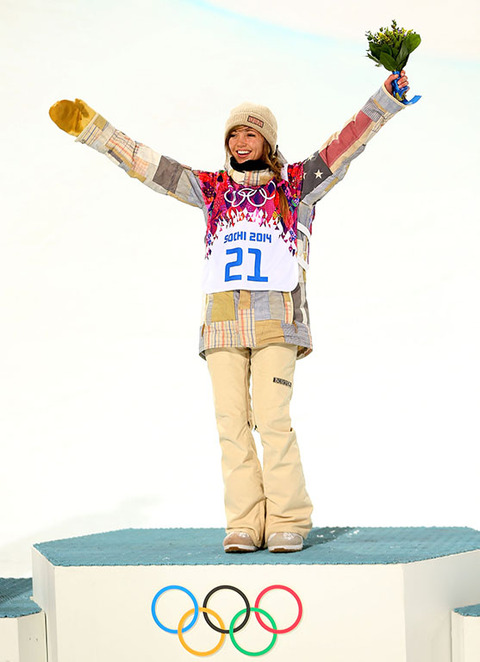 Gold medalist Kaitlyn Farrington -- Snowboarding Women's Halfpipe