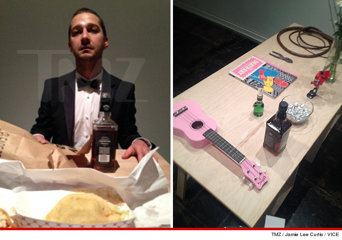 cfe6c1d551f9 Shia LaBeouf put on the weirdest art show in L.A. today by silently  confronting fans one by one