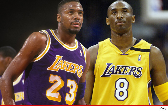 b8883d1630d Kobe Bryant didn t have to go through the regular NBA hazing rituals when he  was a rookie -- in fact a bunch of retired Lakers GREATS came out to  initiate ...