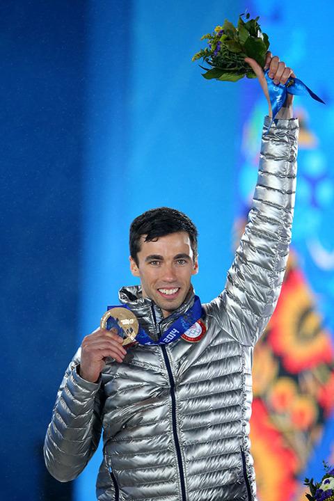 Bronze medalist Matthew Antoine -- Men's Skeleton