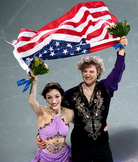 Gold medalists Meryl Davis and Charlie White -- Figure Skating Ice Dance