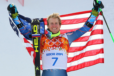 Gold medalist Ted Ligety -- Alpine Skiing Men's Giant Slalom