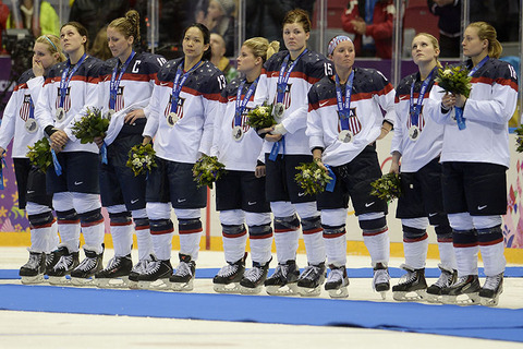 Silver medalists USA's Women's Ice Hockey