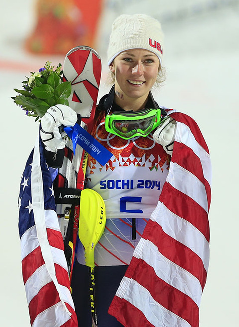 Gold medalist Mikaela Shiffrin -- Alpine Skiing Women's Slalom. She was the youngest winner of all time.