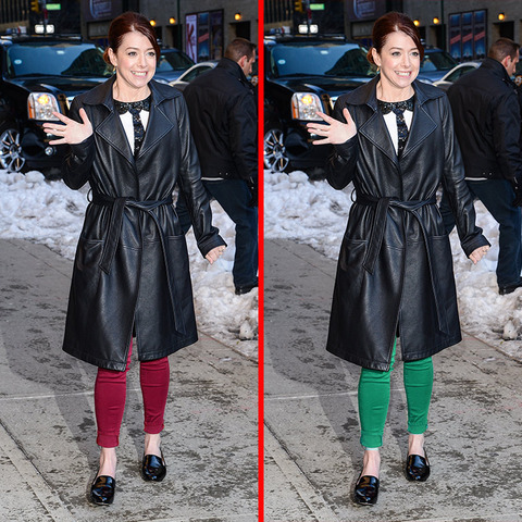 Can you spot the THREE differences in the Alyson Hannigan picture?