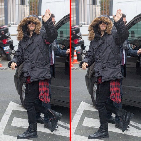 Can you spot the THREE differences in the Jared Leto picture?