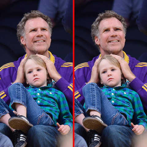 Can you spot the THREE differences in the Will Ferrell picture?