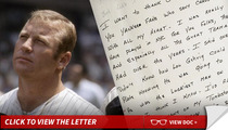 Mickey Mantle -- Famous Death Bed Speech ... Handwritten Notes Up for Auction