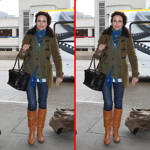 Can you spot the THREE differences in the Andie MacDowell picture?