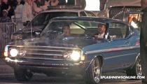 Aaron Paul's Car Overheats Outside Premiere -- Need for a Mechanic [VIDEO]