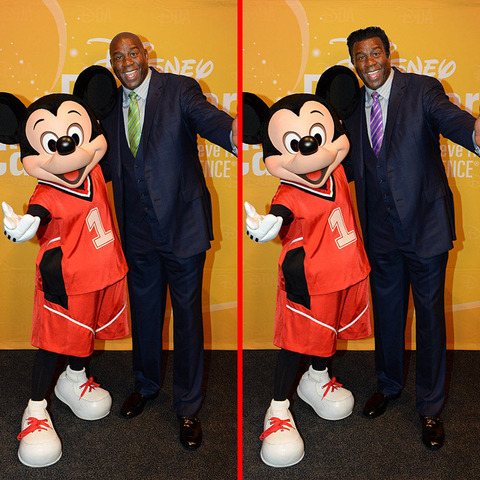 Can you spot the THREE differences in the Magic Johnson picture?