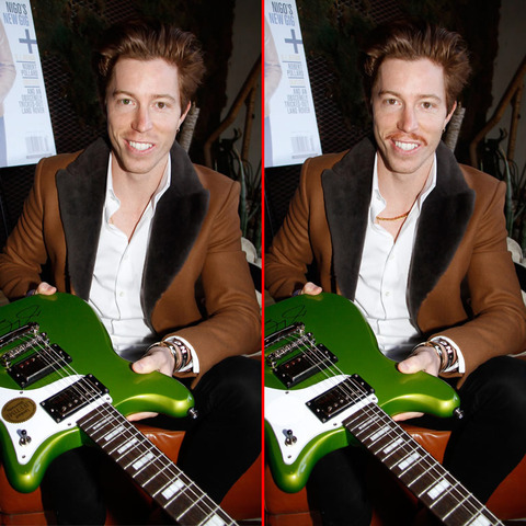 Can you spot the THREE differences in the Shaun White picture?
