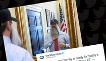 Boston Red Sox -- White House Staffer BEARDS UP ... to Meet World Series Champs