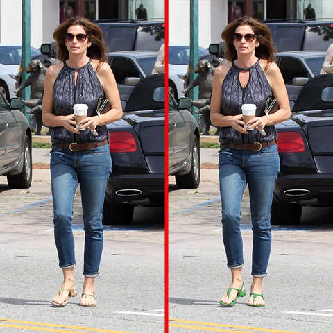Can you spot the THREE differences in the Cindy Crawford picture?