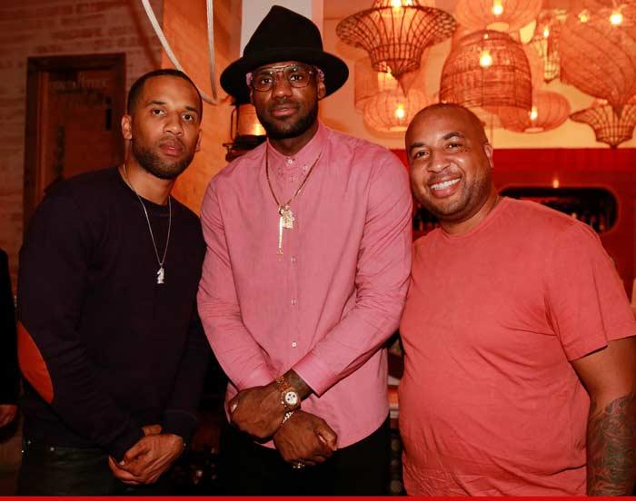 88832bd663f LeBron James -- N.E.R.D. s Out at Dinner ... With Pharrell s Giant ...