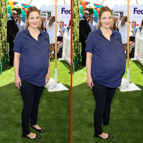 Can you spot the THREE differences in the Drew Barrymore picture?