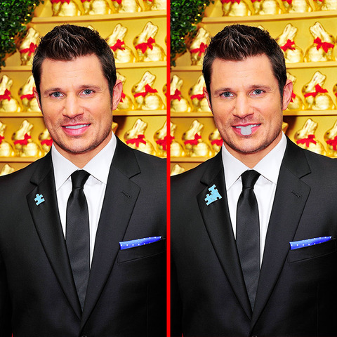 Can you spot the THREE differences in the Nick Lachey picture?