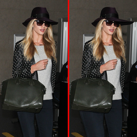 Can you spot the THREE differences in the Rosie Huntington-Whiteley picture?