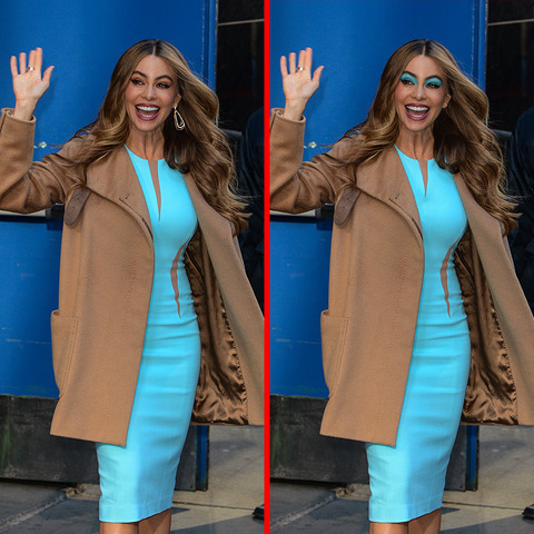 Can you spot the THREE differences in the Sofia Vergara picture?