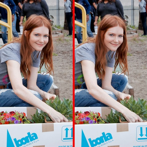 Can you spot the THREE differences in the Darby Stanchfield picture?