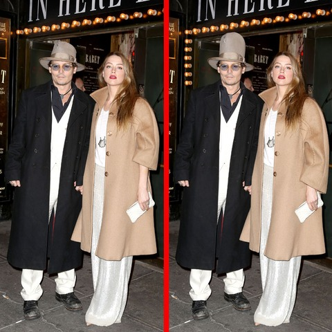 Can you spot the THREE differences in the Johnny Depp picture?
