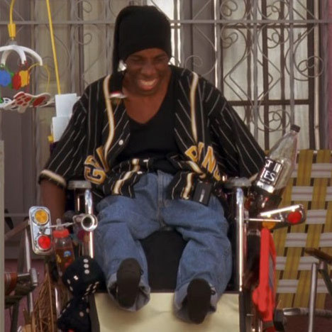 "Suli McCullough played the paralyzed break dancing enthusiast Crazy Legs in the 1996 spoof comedy ""Don't Be a Menace to South Central While Drinking Your Juice in the Hood."""